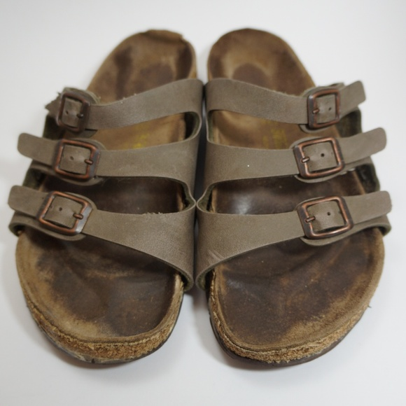 6914f44403a Birkenstock Shoes - Birkenstock triple strap brown sandal 38